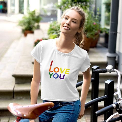 I Love You LGBTQ+ Crop Tee copy - Multi
