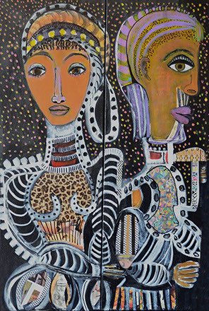 ROYALTY (Diptych) - SOLD