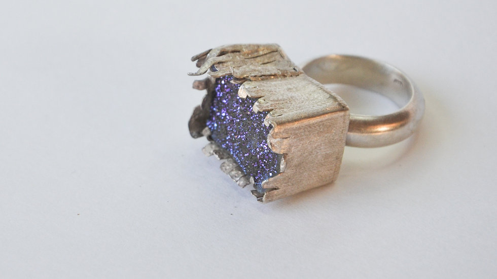 Blue Druzy Sea Ring