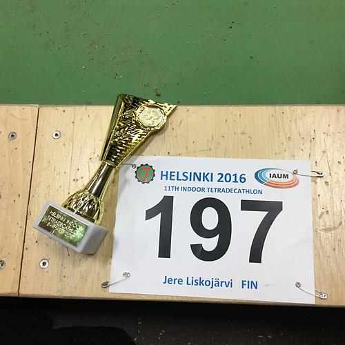 Jere Liskojärvi 2016 Hopeaa Pohjoismaiden mestaruuskilpailuiden M17 10-ottelussa