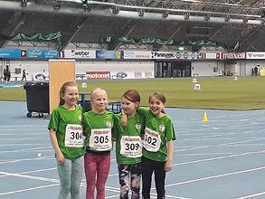 Helsingin Tarmon T11 4x100 m ja 4x60 aj viestijoukkue Tampere Junior Indoor Games kisoissa 9 - 11.3. 2018.