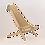 Thumbnail: Liegestuhl inkl. Kissen und Hocker sibirische Lärche EcoFurn