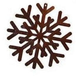 große Edelrost Schneeflocken zum Aufhängen