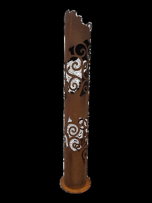 Edelrost Ornamente Leuchtsäule 165 cm