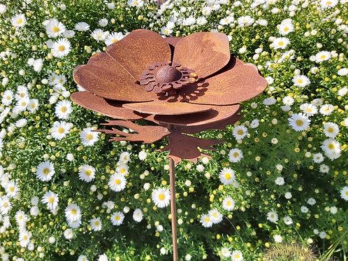 Edelrost Gartenstecker Anemone