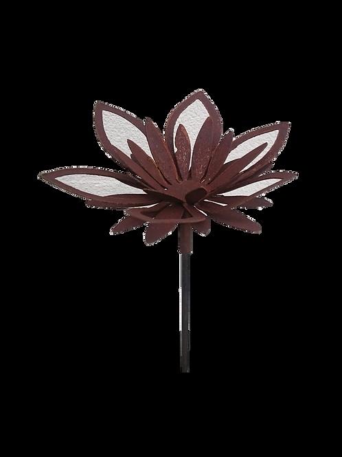 Gartenstecker Blüte für Windlicht