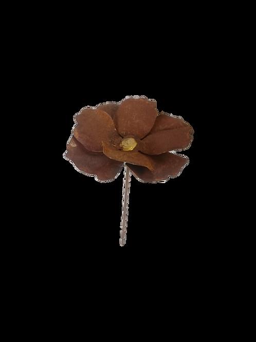 Edelrost Gartenstecker Mohnblüte 20cm
