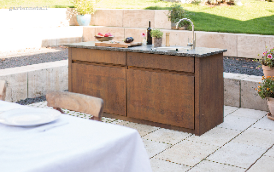 die gesellige Küche im Freien