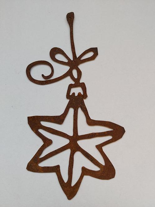 Edelrost Sternschmuck Weihnachtsanhänger Metall