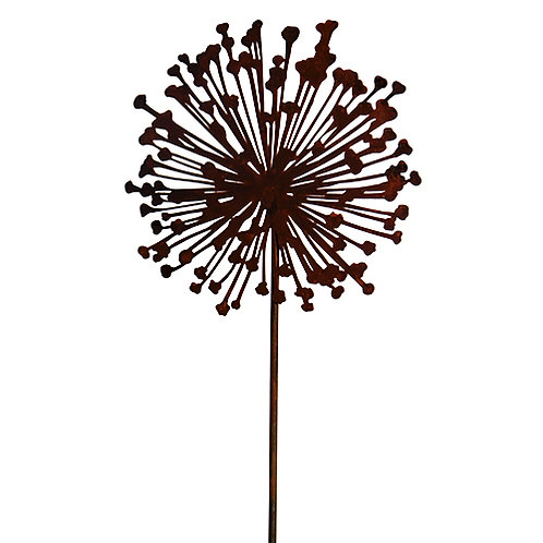 Edelrost Gartenstecker Allium 20cm