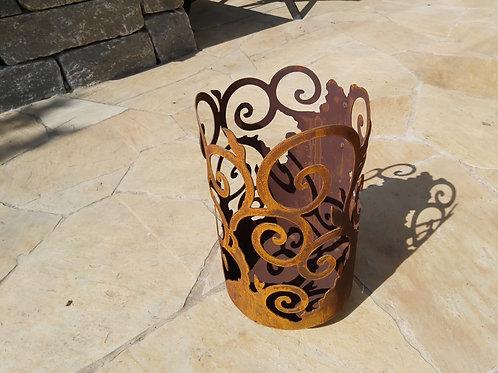 Edelrost Ornamente Windlicht 33cm