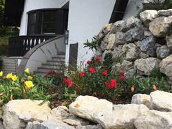 Natursteinmauer Garten Wolz