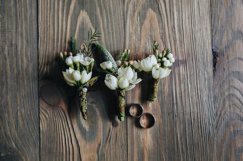 Lapel Flowers & Wedding Rings