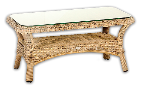 Garden Rattan Coffee Table With Storage