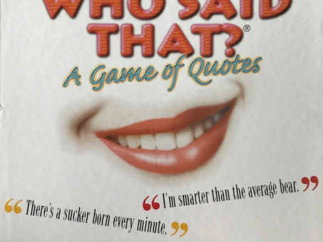 Who Said That? - Dastardly Review #047