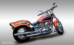 Red and Black Motorcycle 2