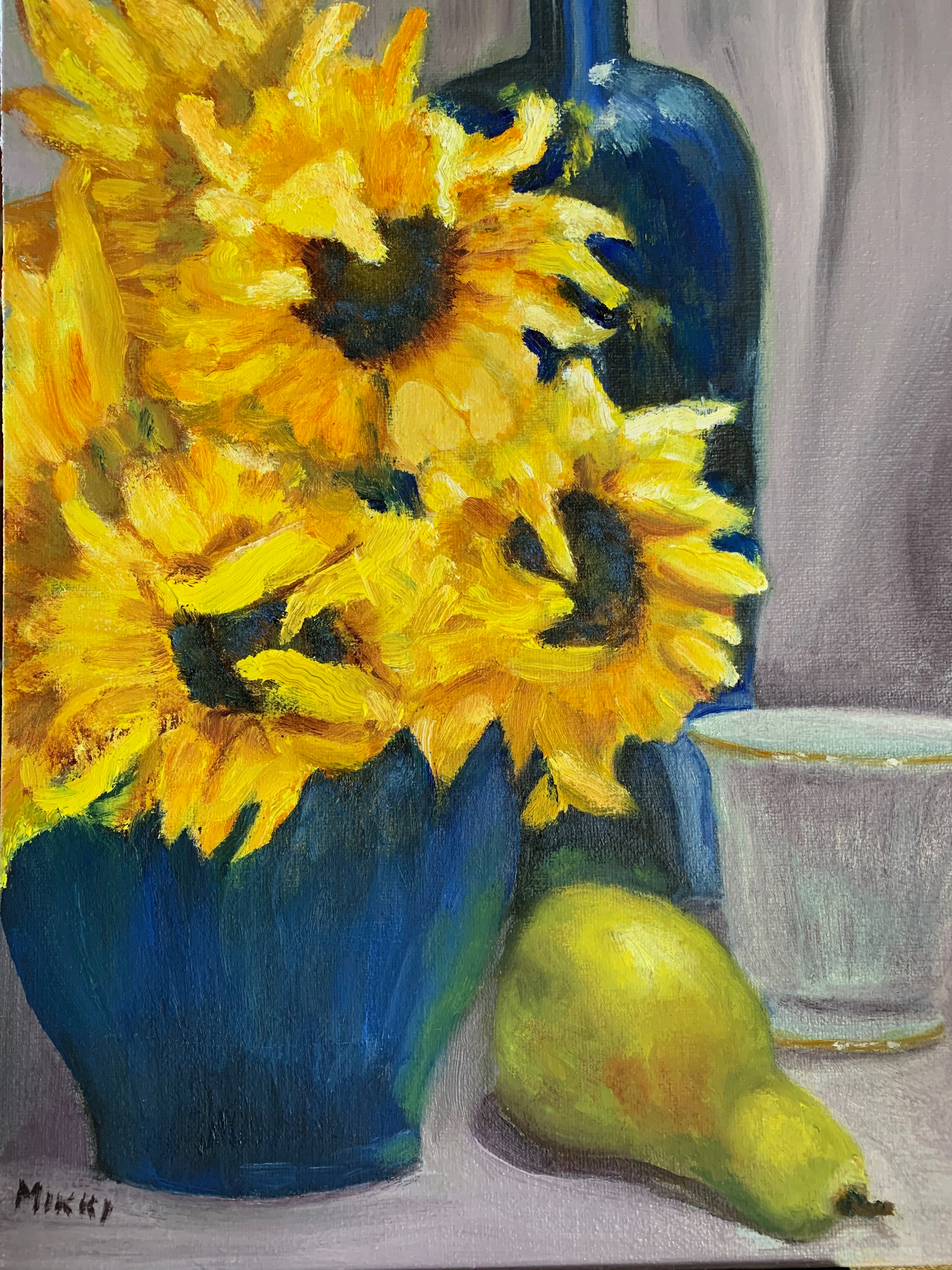 Sunflowers in a Blue Vase.jpg
