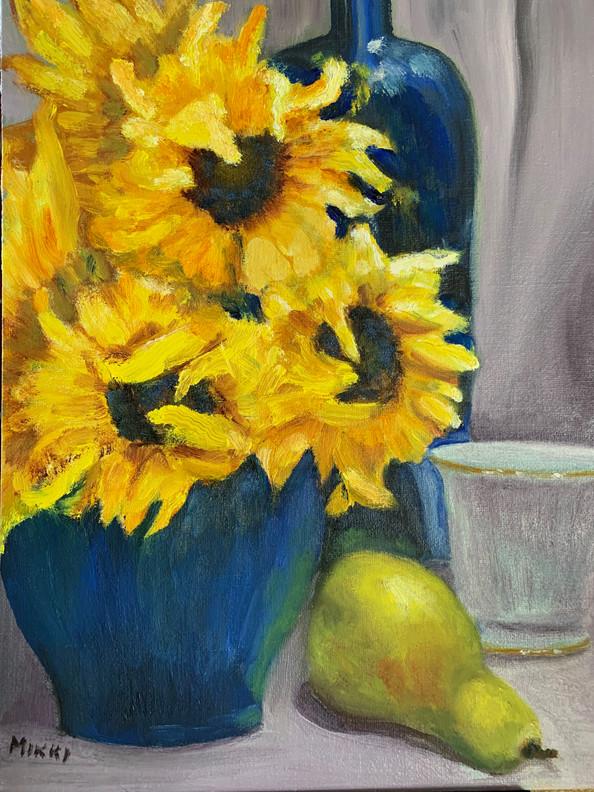 Sunflowers in a Blue Vase.jpg