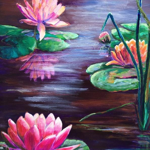 "Moonlight Sonata, acrylic (18"" x 24"")"