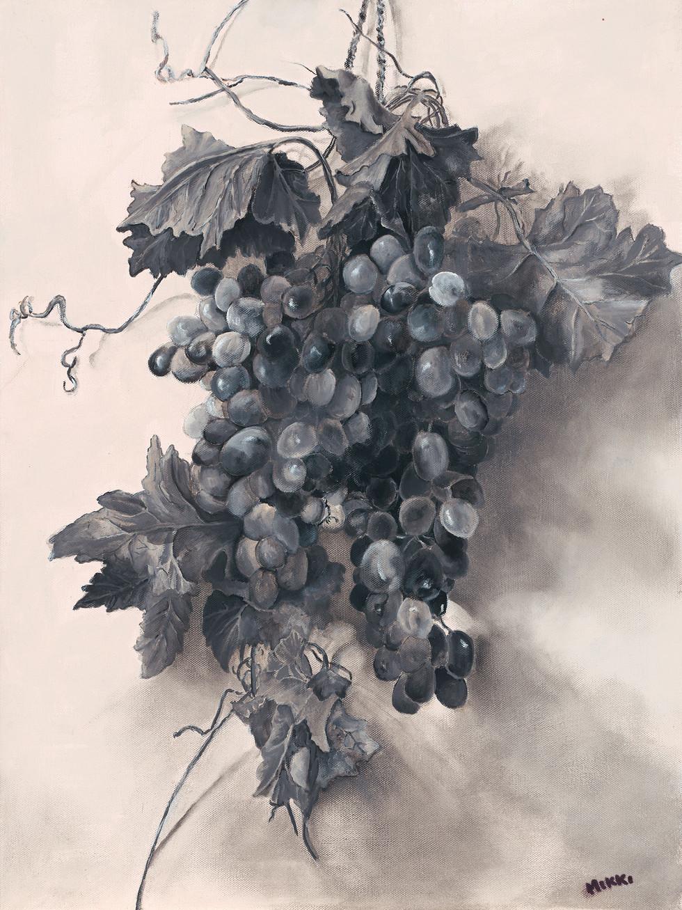 "Study: Grapes, acrylic (18"" x 24"")"