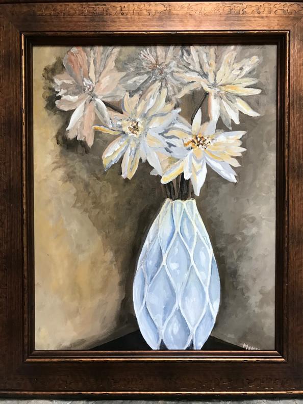 "The White Vase, acrylic (16"" x 20"")"