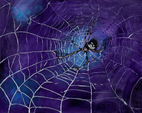 "Spider, acrylic (12"" x 16"")"