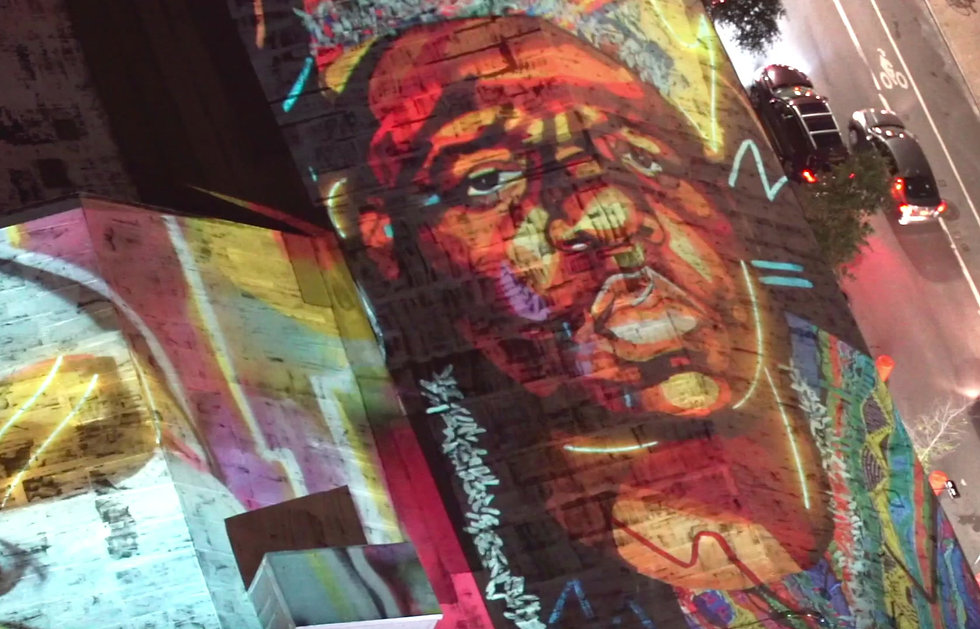 Notorious BIG video projection Optimo Brooklyn Bowl Biggie Smalls Scenester projects