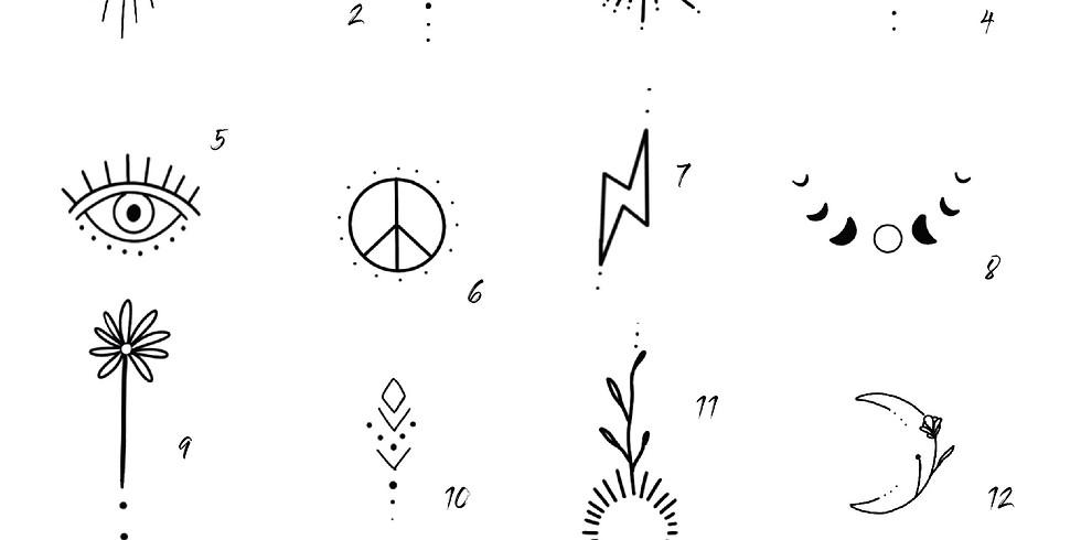 Full Moon Party Flash Tattoos