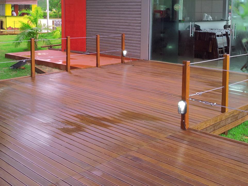 Deck com AGROCLIP Aplicado