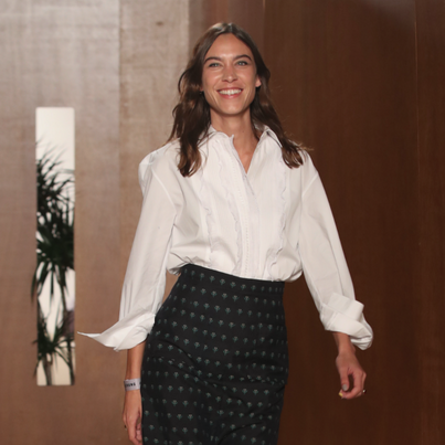 Alexa Chung showcases departure lounge-inspired collection at debut London Fashion Week show