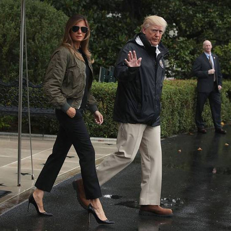 Melania Trump wore high heels to a flood zone & the internet is shaking its head big time