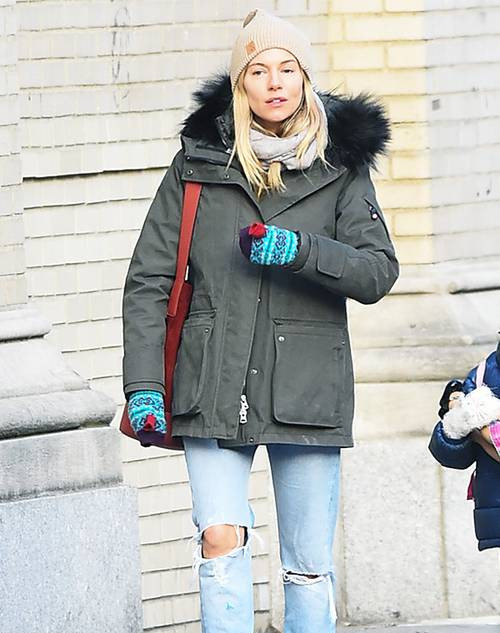 Sienna Miller's Cold-Snap Outfit Has Basically Just Been Sent From Heaven