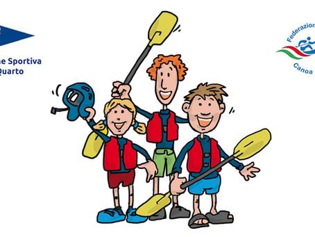 Corso estivo canoa per bambini e ragazzi