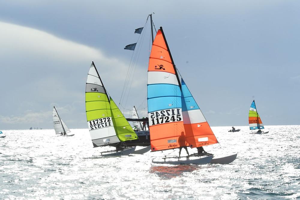 Stefan Griesmeyer alla regata nazionale Hobie Cat 16 di Cagliari