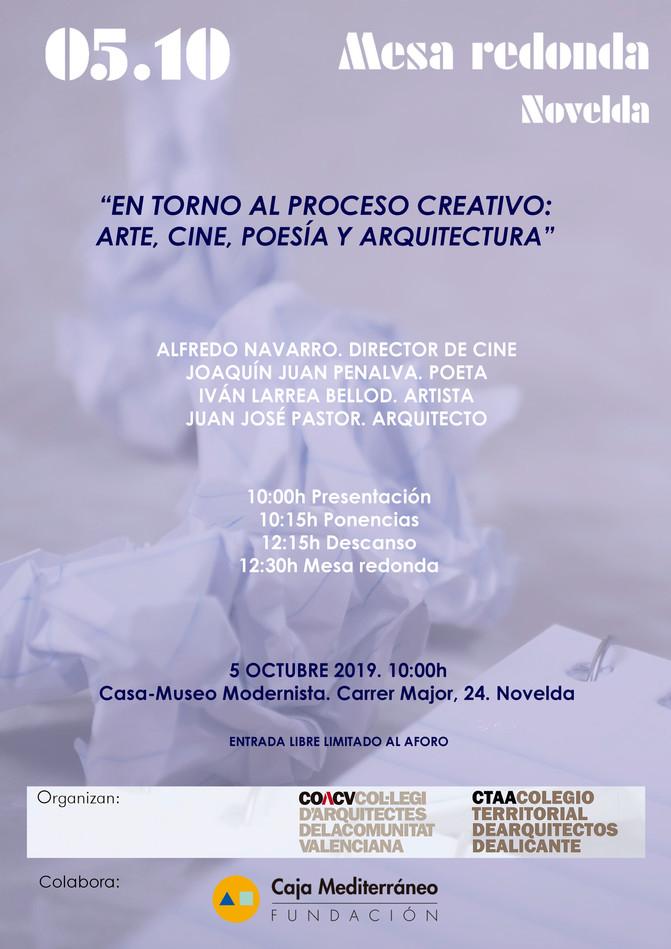 """MESA REDONDA """"El proceso creativo"""""""