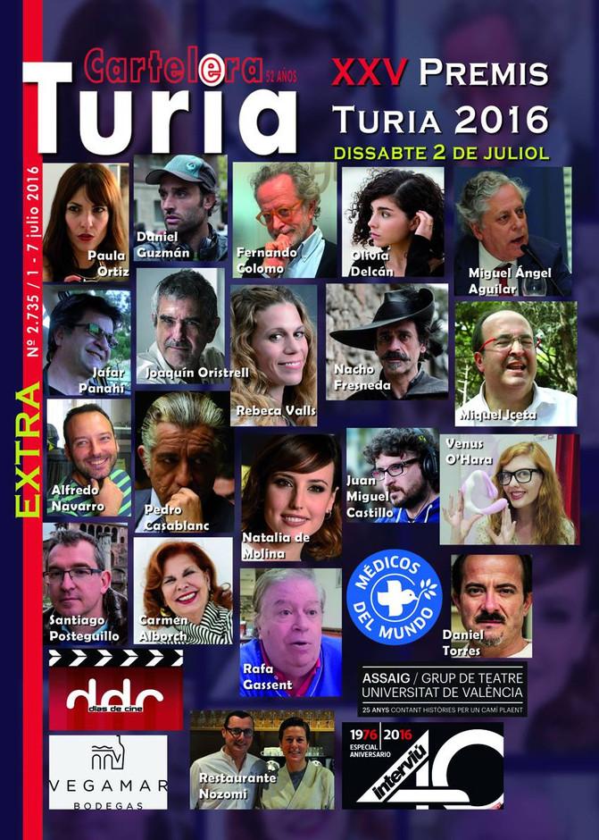 XXV PREMIOS TURIA 2016