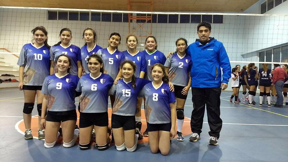 Campeonas Comunales de Voleibol Femenino Sub 14