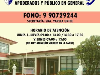 Colegio cerrado por actual situación sanitaria de la Ciudad