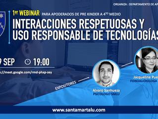Webinar: Interacciones respetuosas y uso responsable de tecnologías.