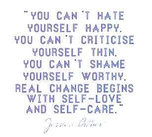 You can't hate yourself happy