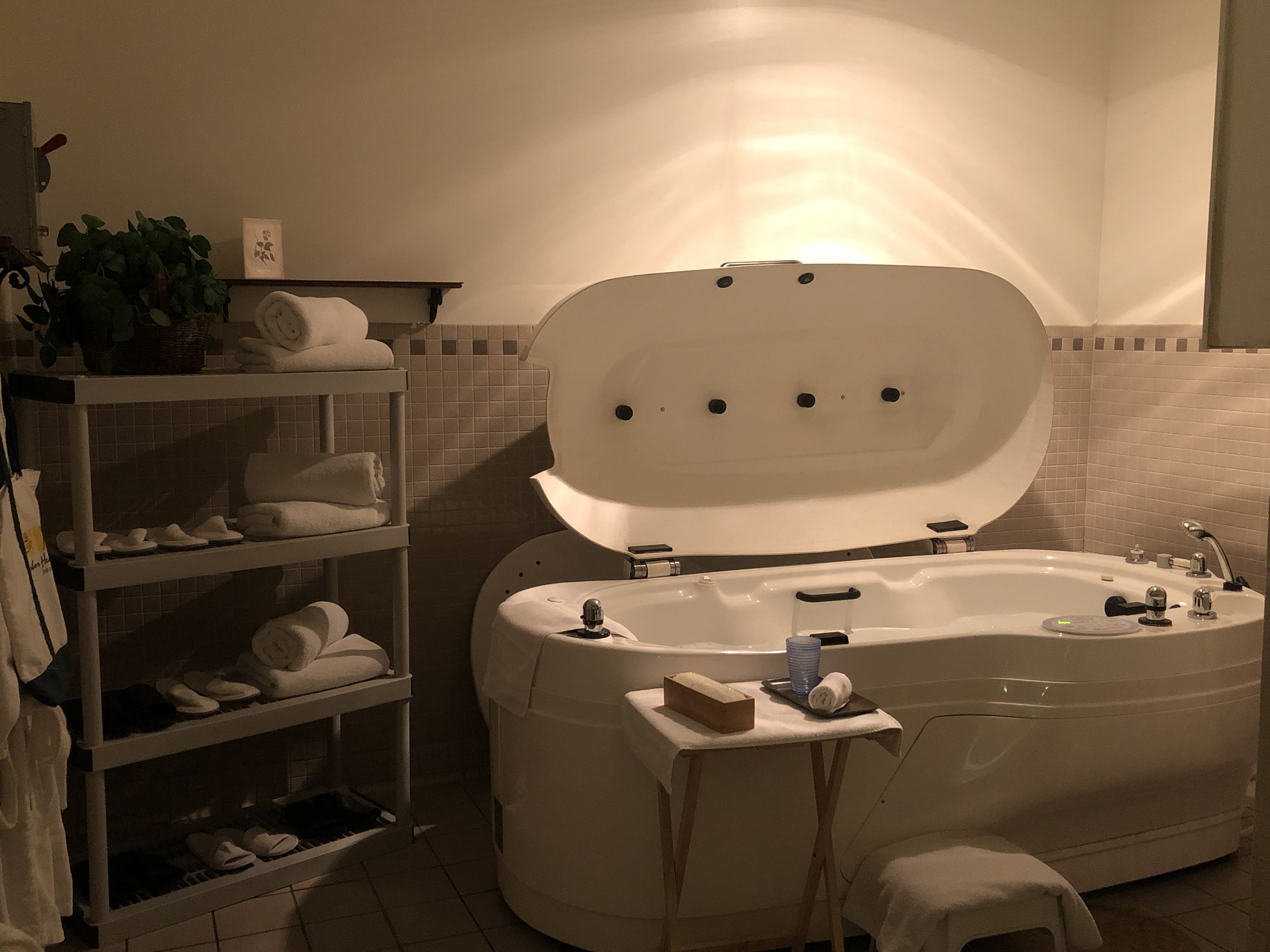 Relaxing Hydrotherapy Tub with Jets