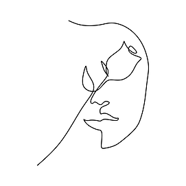 —Pngtree—continuous line drawing of rose_3791990.png