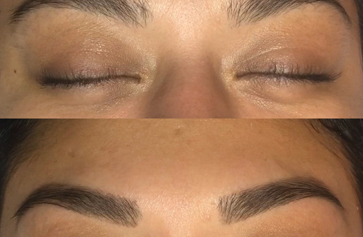 Brow tint before and after