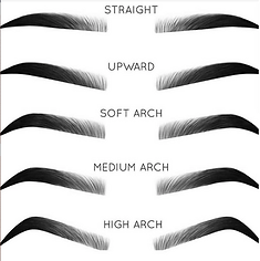 Types of Eyebrow Shapes