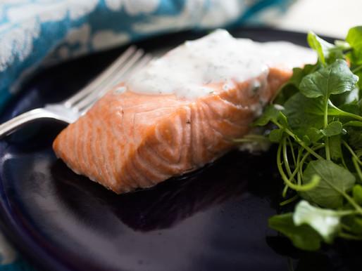 Poached King Salmon