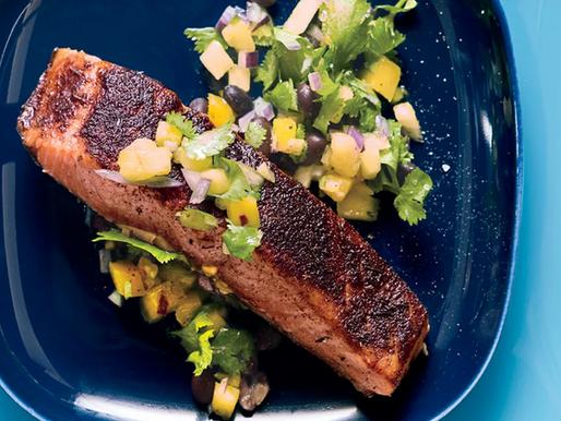 Steak Tips Jerk Style with Pineapple Mango Salsa