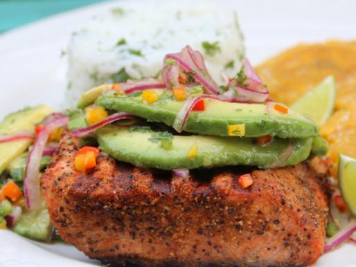 Texas Redfish with Avocado Orange Salsa