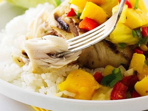 Grilled Mahi Mahi with Pineapple Mango Chutney