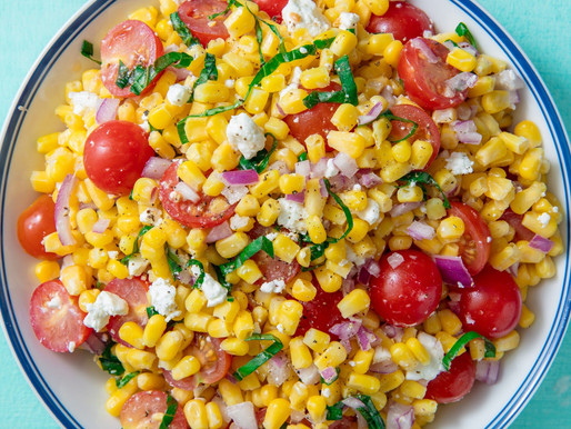 Fully Cooked Dry Rubbed Back Ribs  Roasted Corn Salad w/Feta and Tomatoes