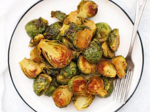 Grilled Brussel Sprouts w/ warm Honey Mustard Dressing
